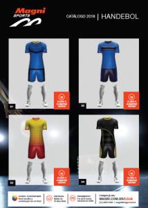Uniformes Handebol - Camisas e Calção Handebol - Catálogo