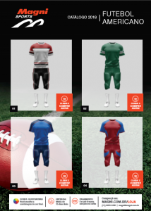 Uniformes Futebol Americano - Catálogo