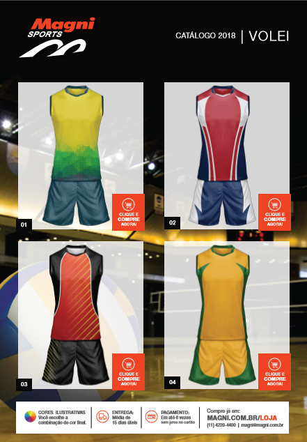 741a02c224 Uniformes de Voleibol - Camisetas e Shorts de Vôlei - Magni Sports